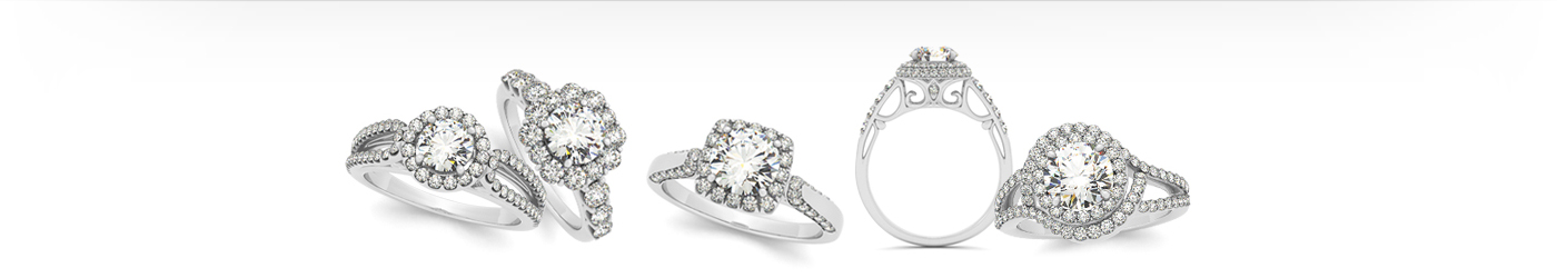 Design an engagement ring on our website by choosing the diamond you desire and matching it to a ring setting of your choice.