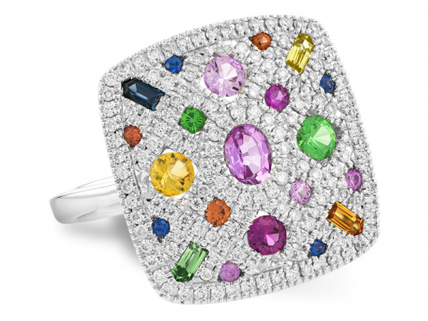 Multicolor Gemstone Ring by Allison Kaufman